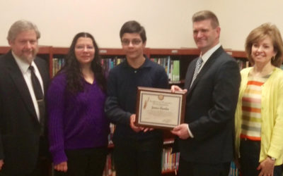 Senator Yudichak Recognizes James Cundro as Semi-Finalist in Talk To Your State Senator Video Competition