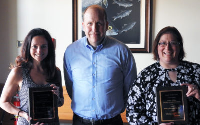 Leach Honors Two Outstanding Librarians