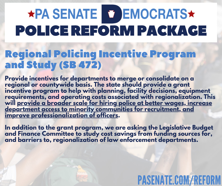 Regional Policing Incentive Program and Study