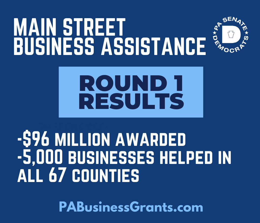 Main Street Business Assistance - Round 1 Results